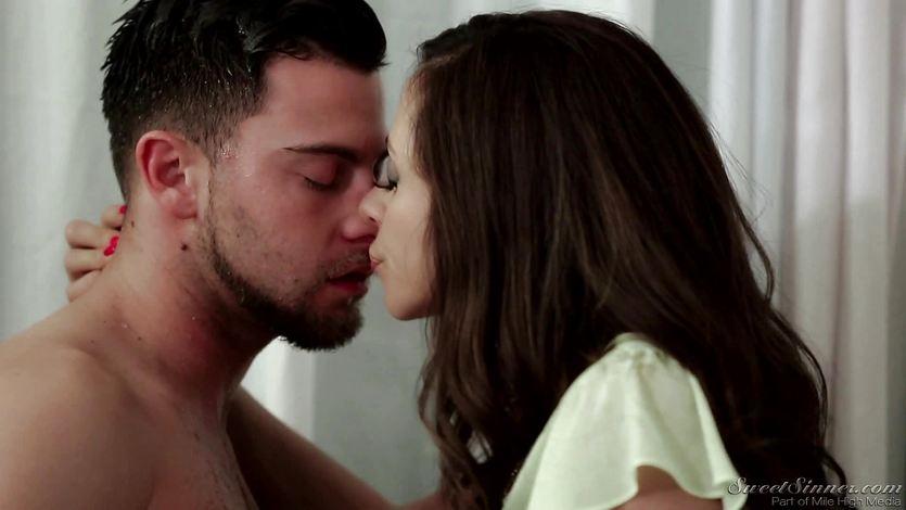 Ariella Ferrera rides a big dick in her pussy