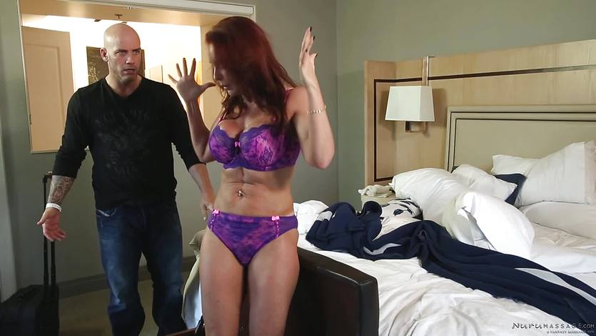 Oiled up massage in vegas with Janet Mason