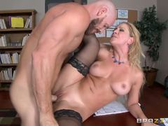 Naughty boss Cherie Deville gets stuffed to the hilt