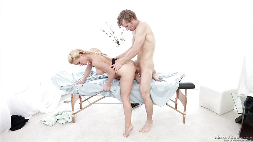 Mature blonde Cherie Deville hungry for cock
