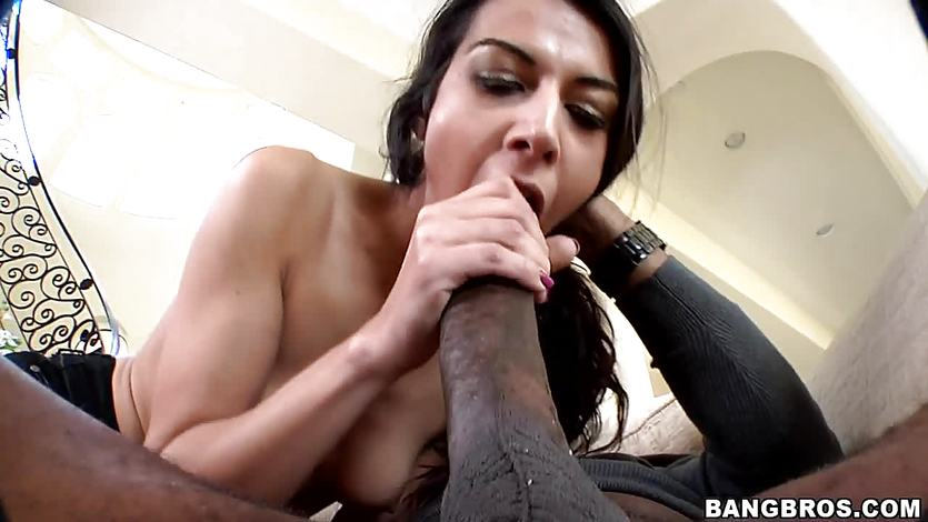 Lou Charmelle getting her pussy stretch by a massive black cock