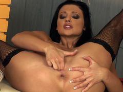 Aletta Ocean masturbates in hot lingerie