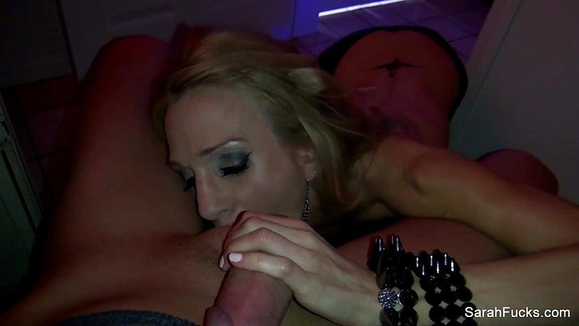 Sarah Jessie drools over this hard dick