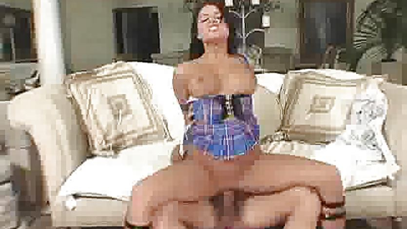 Brunette Eva Angelina gets her pussy nailed