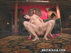 Luscious babe Katsuni gets her pussy nailed