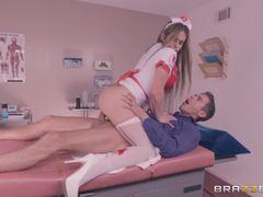 Uniformed fucking from sexy nurse Rachel Roxx