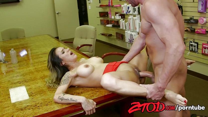 Hot female boss Nadia Styles fucked by stockboy