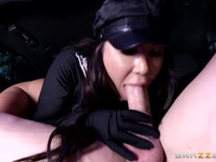 Dirty driver Angelica Taylor fucks her horny ride