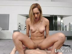 Sensual Chloe Amour devours this hard cock