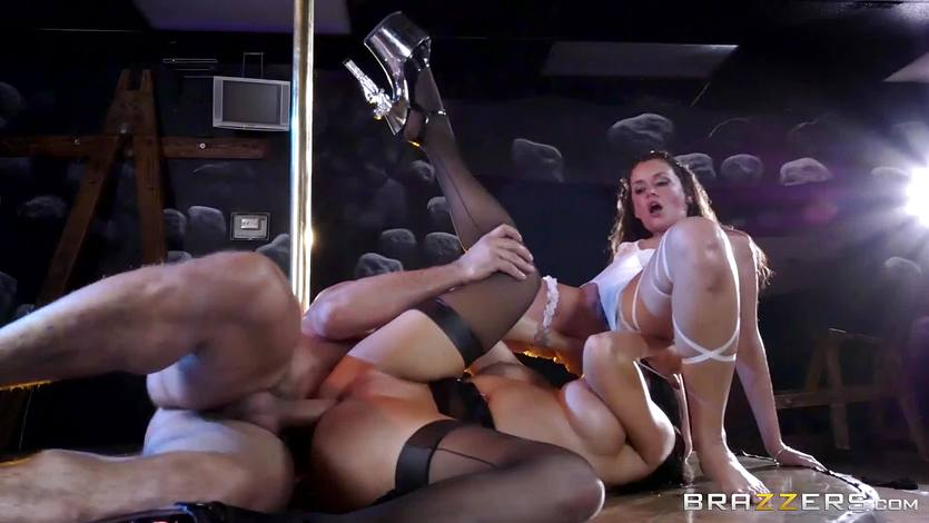 Romi Rain and Allie Haze get down and dirty in the club