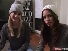 Minge eating lesbians let their tongues loose Charlotte Stokely and Madi Meadows
