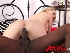 Blonde Kagney Linn Karter rides this huge cock
