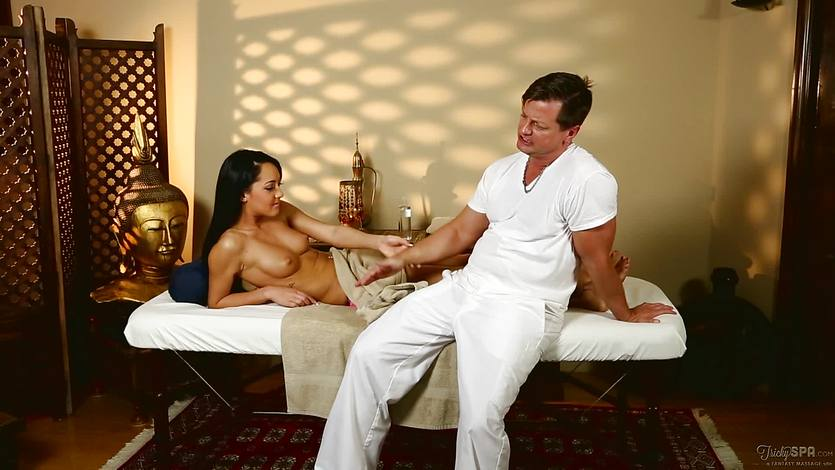 Massage parlour fun with the gorgeous Sabrina Banks