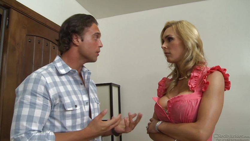 Blonde MILF Tanya Tate fucking her daughters ex