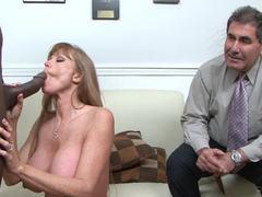 Redhead Darla Crane fucks black cock has her husband watches