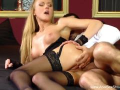 Beautiful Blonde loves anal