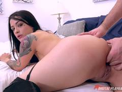 Massage chair pussy fuck with Katrina Jade