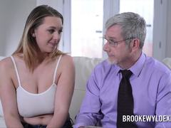 Busty Brooke Wylde Role Play with Older Guy