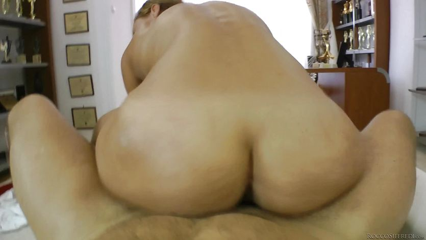 Hot ass brunette fucked by Rocco Siffredi