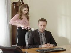 Sweet cutie Alice March pussy pounded by her new boss