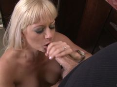 Naughty wife Holly Heart takes it deep in the kitchen