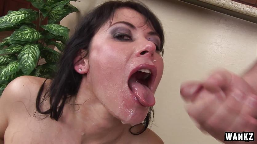 Steamy bukkake for cum splattered Eva Karera