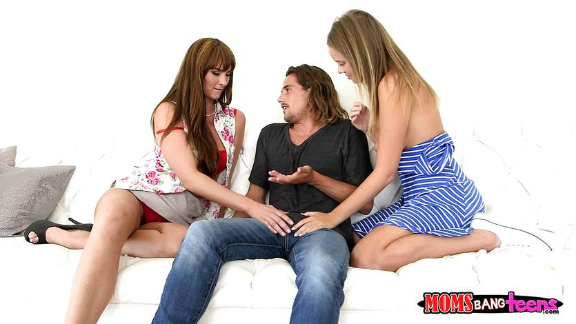 Beautiful Alexis Adams and Bianca Breeze hammered by horny teen Tyler Nixon
