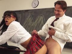Luna Star seducion of her hard dicked teacher