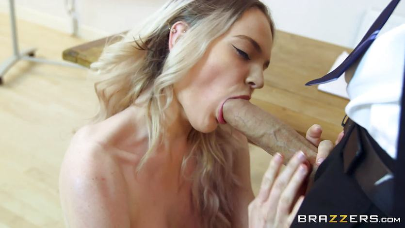 Naughty teacher stuffs his huge cock into Carly Rae