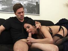 Stepson playing with the steamy pussy of MILF Nadia Styles