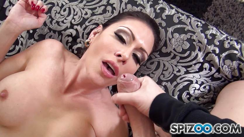 Horny Jessica Jaymes has cock slid deep down her pussy