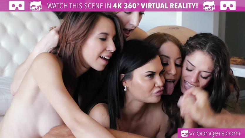 VR Bangers - FIVE Pornstars WORSHIP YOUR DICK