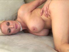 Blonde Diamond Foxxx takes it from her gentleman caller
