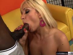 Interracial fun for blonde hottie Lea Lexus