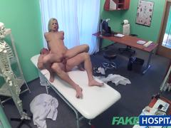Hot blonde bounces on this hard dick