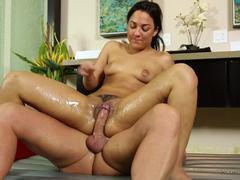 Pussy slamming Amara Romani in her slippery pussy