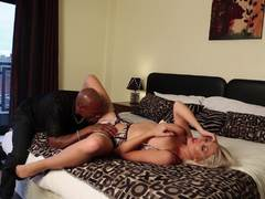 Beautiful blonde Lexi Lowe takes on a black dick