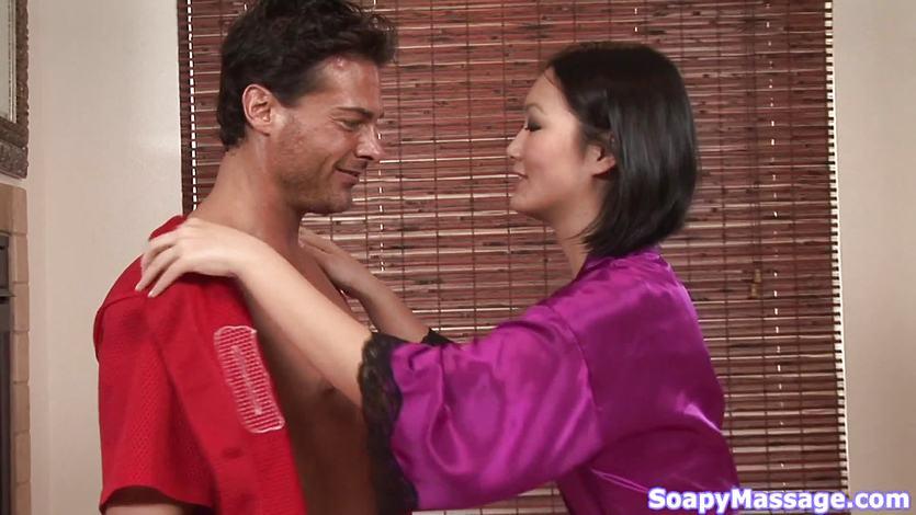Sensuous asian chick gives a soapy massage and a proper handjob  1143727