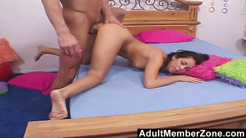 Brunette Paulina James takes this huge dick