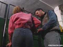 Angelica Bella and Nicolette getting crammed at the stables