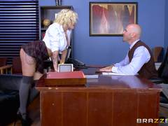 Harlow Harrison fucked across the deans desk