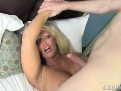 Sexy Alura Jenson sleeping and had cock smashed into her face