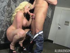 Sexy blonde MILF Alura Jenson slammed with big meatpole