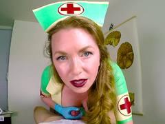 Jerking fun with dominating nurse