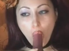Brunette teases her juicy pussy