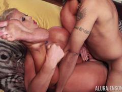 Sexy beauty Alura Jenson crammed balls deep