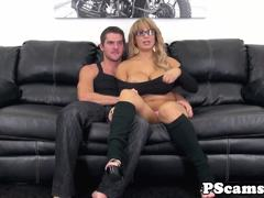 Bigtitted webcam babe Alyssa Lynn gets her tits fucked
