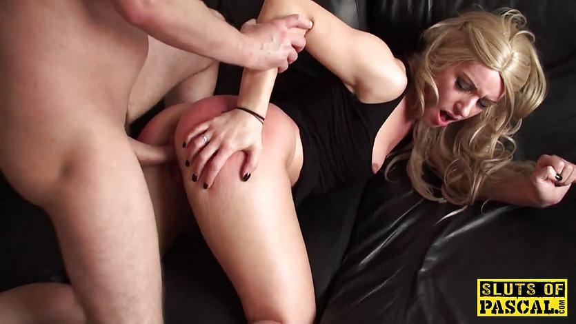 Blonde English sub slut Jasmine Lau doggystyled