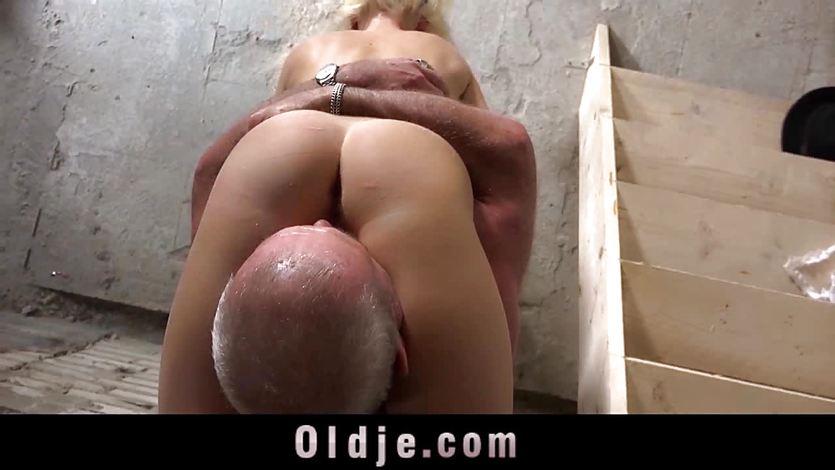 Mature man cock slamming hot blonde
