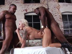 Big black dicks slide into Nina Elle